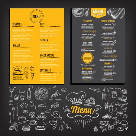 carta de postres: Menú de cafetería restaurante, diseño de la plantilla. Folleto de Alimentos.