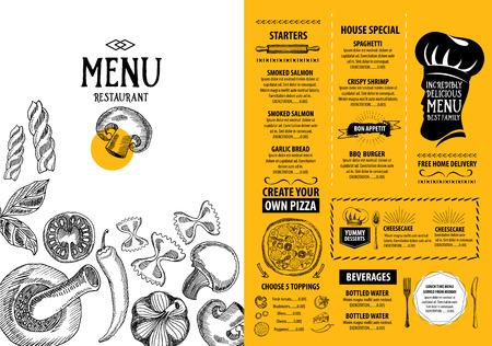 cafe menu: Cafe menu restaurant brochure. Food design template.