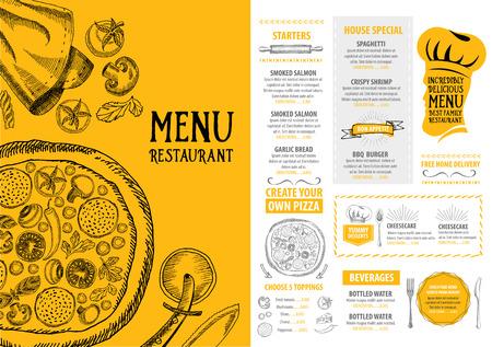 speisekarte: Cafe-Restaurant-Men� Brosch�re. Food Design-Vorlage.