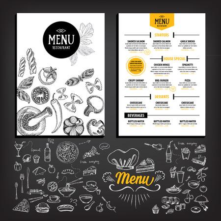 Restaurant café menu, la conception de modèle. dépliant alimentaire. Banque d'images - 42514463