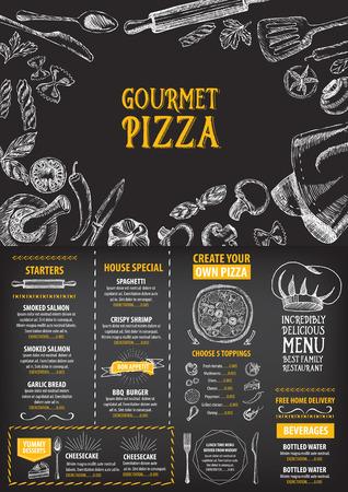 menu de postres: Men� Cafe folleto restaurante. Modelo del dise�o de la Alimentaci�n.