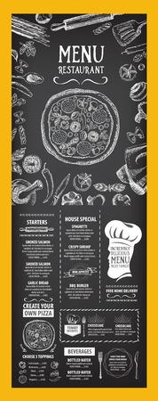 Menú de cafetería restaurante, diseño de la plantilla. Folleto de Alimentos. Foto de archivo - 42514522