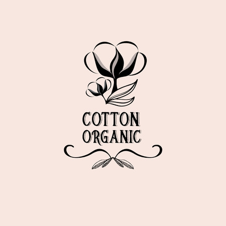 material flower: Cotton badges design, organic product.