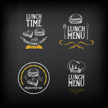 lunch: Lunch menu logo and badge design.