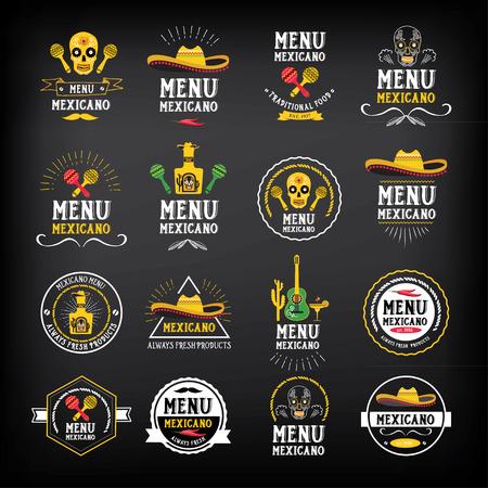 speisekarte: Menu Mexikanisch Logo und Abzeichen Design.