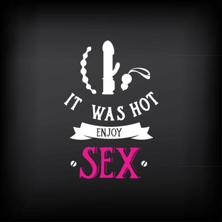 섹스 숍 로고 및 배지 디자인.