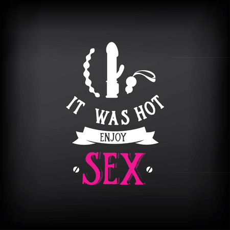 female sex: Sex shop logo and badge design.