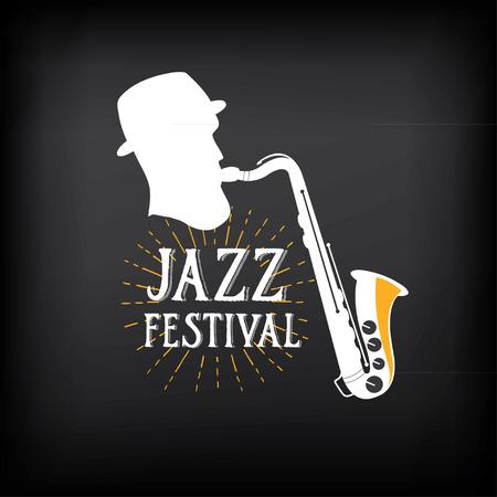jazz: Jazz music party logo and badge design. Illustration