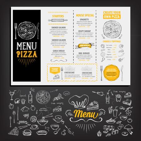 Restaurant cafe menu, template design. Food flyer. Stock Illustratie