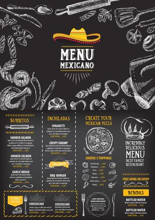 thực phẩm: Nhà hàng đơn cafe, mẫu thiết kế. Tờ Food.