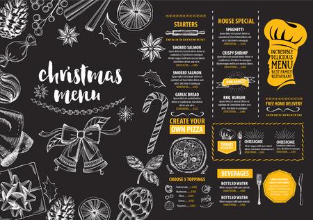 Christmas party invitation restaurant menu design vector template christmas party invitation restaurant menu design vector template with graphic vector stopboris Images