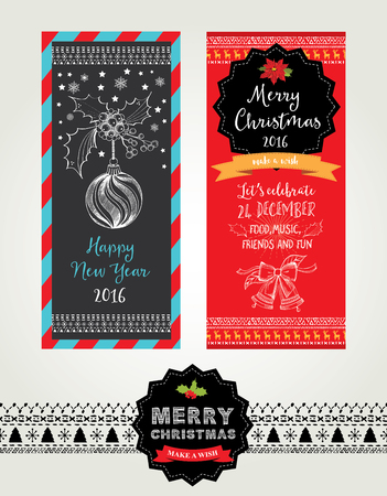 holiday invitation: Christmas party invitation. Holiday card. Vector template with graphic.