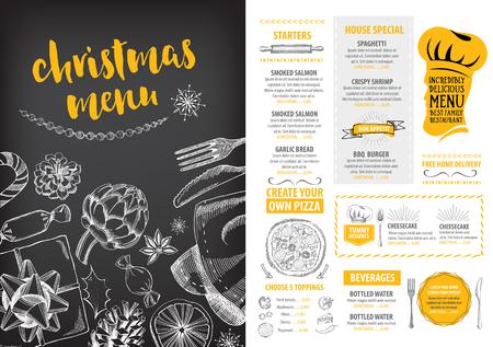 Christmas party invitation restaurant menu design vector template 46040307 christmas party invitation restaurant menu design vector template with graphic stopboris Images