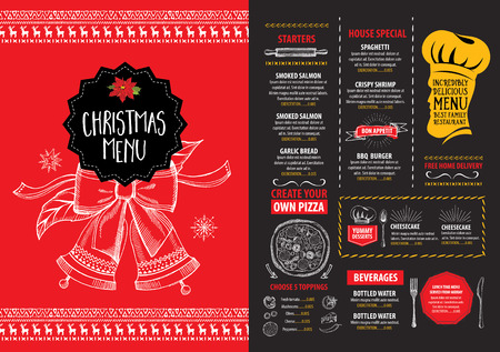 6112 Christmas Dinner Illustrations Cliparts And Royalty – Free Christmas Dinner Menu Template