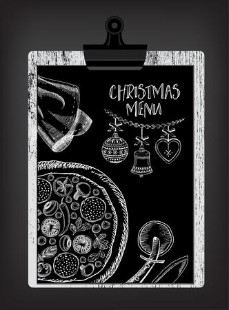 Christmas party invitation restaurant menu design vector template 46040588 christmas party invitation restaurant menu design vector template with graphic stopboris Images
