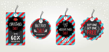 christmas poster: Vector christmas sale poster with toys. Holiday background and design banner. Vector banner with hand-drawn xmas graphic.