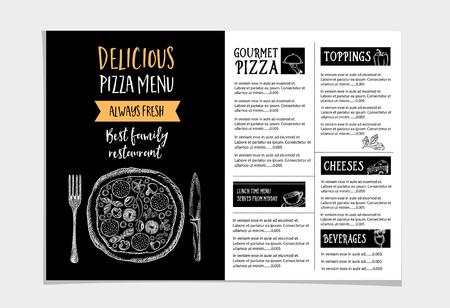 Vector Restaurant Brochure Menu Design Vector Cafe Template – Restarunt Brochure