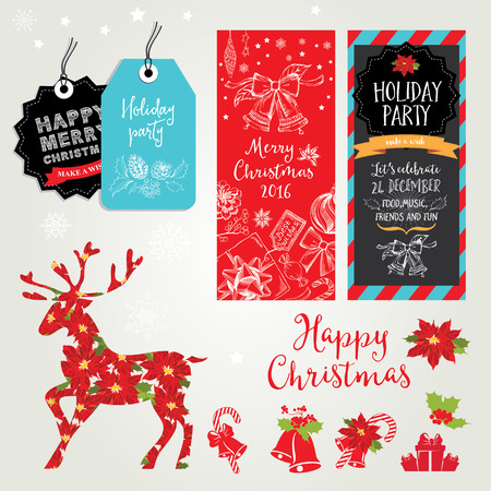 vector christmas party invitation with toys holiday background royalty free cliparts vectors and stock illustration image 48485156