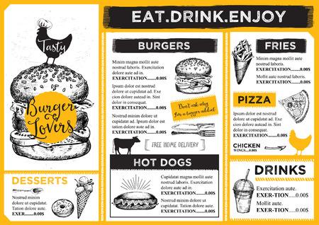 Restauracja broszura wektorowe, projektowania menu.