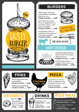 menu design: Restaurant brochure vector, menu design.  Illustration