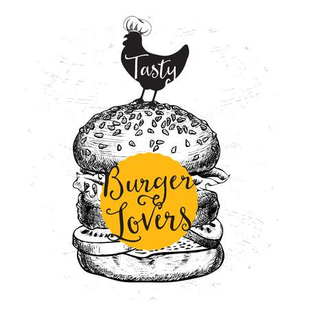 fastfood: Nhà hàng vector brochure, thiết kế menu. Hình minh hoạ