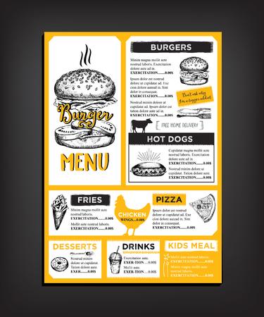 Restaurant brochure vector, menu design. 版權商用圖片 - 50772151