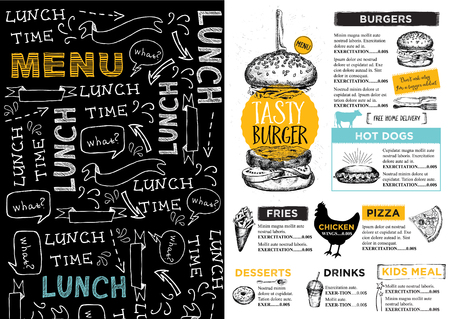 Restaurant brochure Stock Illustratie