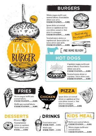 Restaurant brochure Illustration