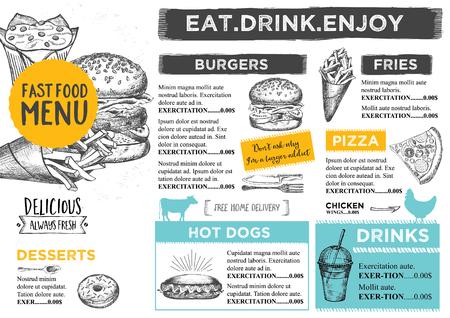 label design: Restaurant brochure Illustration