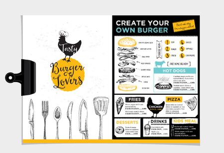 Restaurant brochure Ilustracja