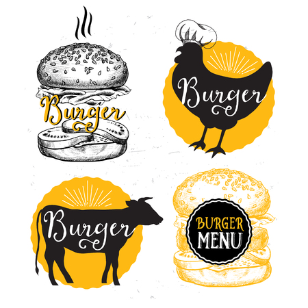 menu icon: Restaurant brochure, menu design. Illustration