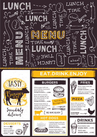 restaurant  menu: Restaurant brochure vector, menu design.