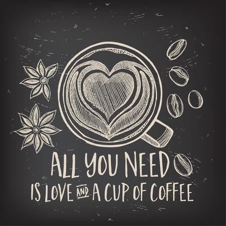 Coffee restaurant brochure vector, coffee shop menu design. Stock Illustratie