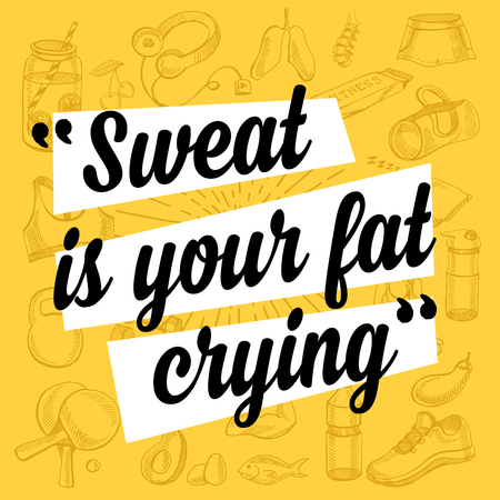 motivational: Fitness motivation quote poster.