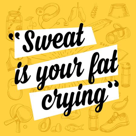 Fitness Motivation Zitatplakat. Standard-Bild - 53222551