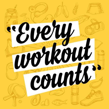 Fitness Motivation Zitatplakat.