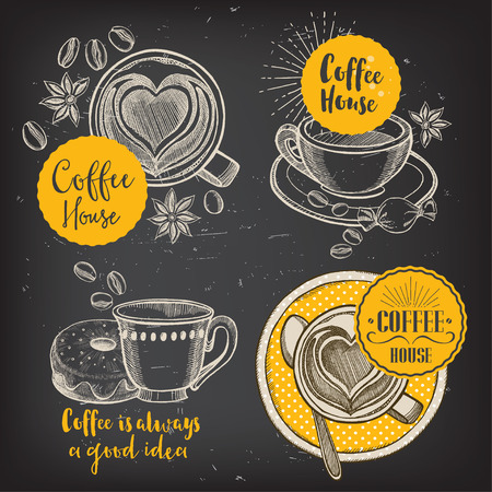 Koffie restaurant brochure vector, koffie winkel menu ontwerp.