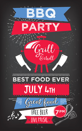 placemat: Barbecue menu placemat food restaurant brochure, bbq template design. Vintage creative dinner invitation with hand-drawn graphic. Vector food menu flyer. Gourmet menu board.