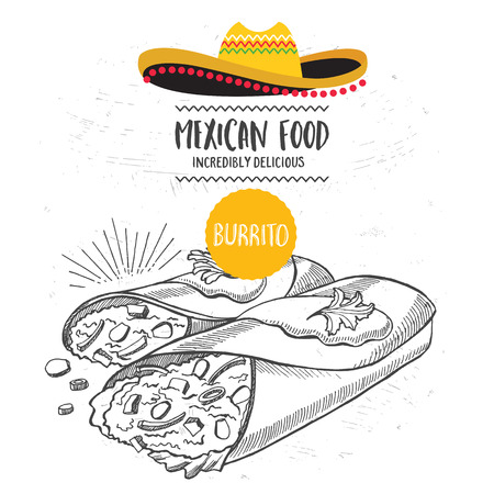 dinner menu: Mexican menu placemat food restaurant, menu template design. Vintage creative dinner brochure with hand-drawn graphic. Vector food menu flyer.