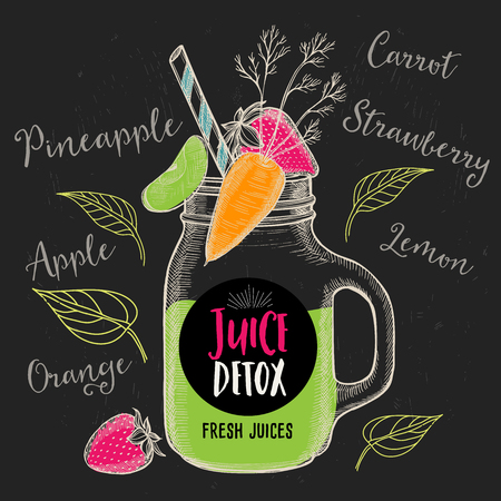 beverage menu: Juice menu placemat drink restaurant brochure, dessert template design. Vintage creative beverage template with hand-drawn graphic. Vector food menu flyer.