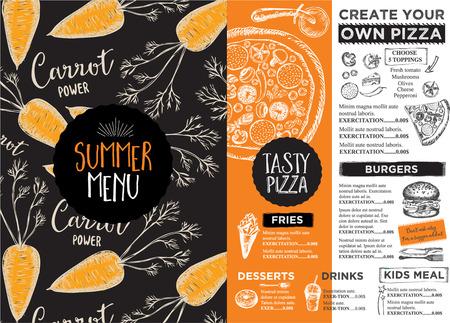 coquetel: placemat menu de restaurante de comida folheto, design do modelo do menu. template jantar criativo vintage com o gráfico desenhado à mão.