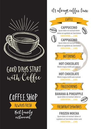 cappucino: Coffee restaurant brochure Illustration
