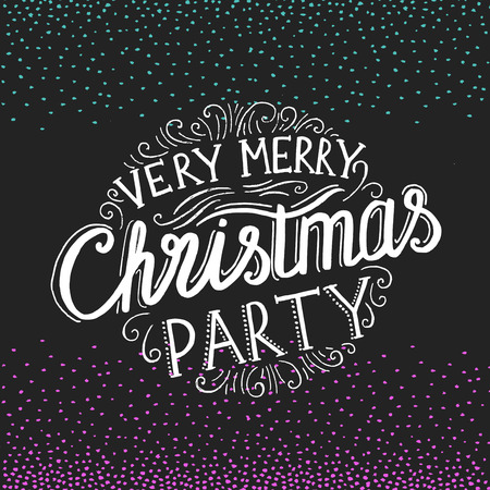 christmas party invitation. Holiday background and design . Happy New Year with xmas graphic.