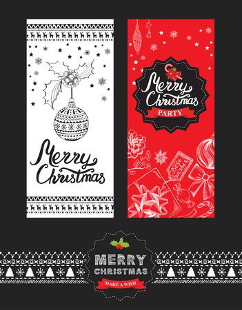 Christmas restaurant brochure, menu template. holiday background and design . Happy New Year party with xmas graphic.