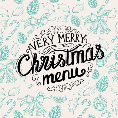 brochure festa di Natale, modello di menu. vacanza sfondo e il design. Felice festa di Capodanno con il grafico natale.