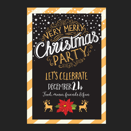 christmas party: Christmas party brochure, menu template. holiday background and design . Happy New Year party with  xmas graphic.