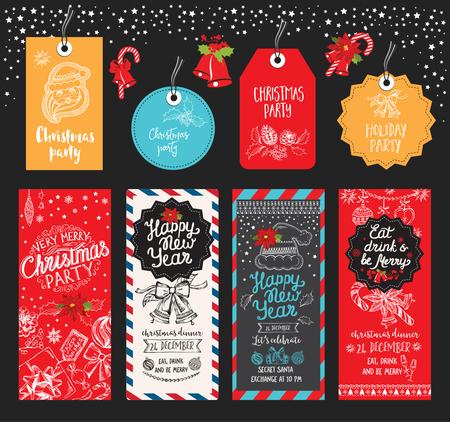 Weihnachtsfeier Broschüre. Urlaub Hintergrund und Design-Banner. Frohes Neues Jahr-Party mit Weihnachts Grafik.