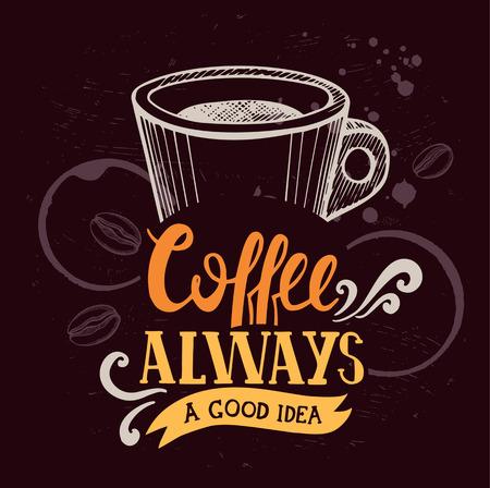 レストラン、カフェのコーヒー メニュー グラフィック要素。手描き落書きスタイル要素とポスターをデザインします。