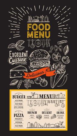 Food menu template for restaurant. 向量圖像