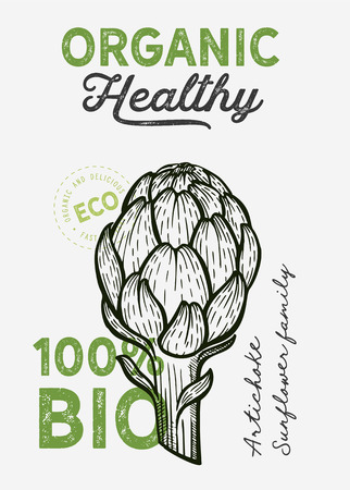 Vegetables illustration for farm market on background. Vector hand drawn organic and vegetarian food. Design poster with lettering and doodle vintage graphic.